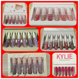 Wholesale Velvet Stockings - IN STOCK!! Kylie Jenner brithday lipgloss & KYLIE holiday lip golss &Matte and velvet Liquid Lipstick Valentines free shipping