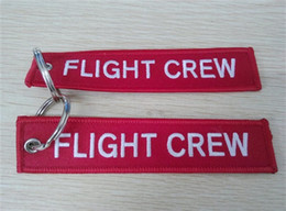 Wholesale Pilot Keys - Flight Crew Key Chain Aviation Luggage Motorcycle Pilot Crew Bag Tag 13 x 2.8cm 100pcs lot