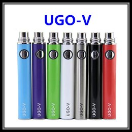 Wholesale Ego V Passthrough - USB Passthrough UGO-V Battery 650 900mAH Upgraded eGo-T EVOD 2 Vape Electronic Cigarette with Micro USB Cable Fit 510 Thread Ecig Atomizers