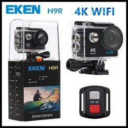 Wholesale Recording Connection - Eken H9  H9R sports camera 2.0 LCD 4K quality HD 1080p 60fps recorded WIFI connection bluetooth control of 30m water-resistant shells