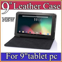 "Wholesale Tablet Pc Allwinner A13 Mid - CH Special Leather Case Stand Cover For 9"" inch Android Tablet PC MID Allwinner A13 A20 A23 A33 Actions ATM7021 PT09-1"