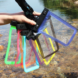 Wholesale Waterproof Pouch Cellphone - Cell Phone Waterproof Bag Pouch for iphone Samsung Android Cellphone Diving Touch Screen Transparent Waterproof Case Pouches Bags 5.8 inches