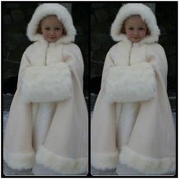 Wholesale Hot Bridal Cape Cheap - Beauty Cheap 2016 New Winter Child Cape Floor length Lovely Faux Fur Wraps for Children Hot sale Bridal Cloaks