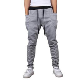 Al por mayor-sarouel baggy afilada bandana pantalones hip hop dance harén pantalones de chándal drop entrepierna pantalones hombres parkour pista deportiva correr pantalones desde fabricantes