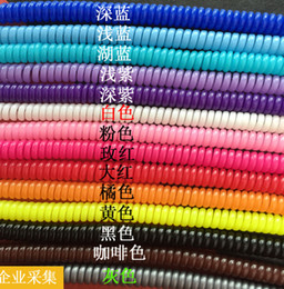 Wholesale Free Ship Mixed Plastic spring Protective sleeve Mobile Tablet Spiral Cord Protector for Cell Phone iPhone Charger Earphone Cords