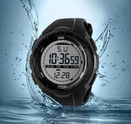 Wholesale wholesale watches skmei - DHL 2015 New Skmei Brand Men LED Digital Military Watch 50M Dive Swim Dress Sports Watches Fashion Outdoor Wristwatches Wholesale G-W1090