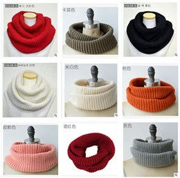 Wholesale Scarfs For Cheap - 18 Colors Hot Winter Scarf Men Women Warm Infinity Scarfs for Women Long Scarf Neckerchief Cheap Scarves Knitted Scarf Plain Scarves