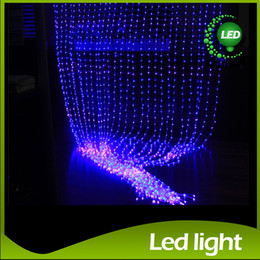 Wholesale Led Waterfall Christmas Lights - LED Curtain Light Waterfall Light 6m*3m 2m*2.5m 3m*3m Water Flow Christmas Wedding Party Holiday Decoration LED Strings Fairy String Lights