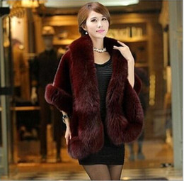 Wholesale Womens Long Fox Coats - Autumn and Winter warm New Silver Fox Fur Vest gilet outerwear womens fashion fur coat plus size 3 color! free shipping