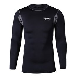 Wholesale Gore Cycling Tights - Men's Long Sleeve Cycling Shirts Punisher Winter Soldier 3D Printing Speed Dry Tops Clothing Exercise Tights Breathable Sports T-Shirt S&4XL