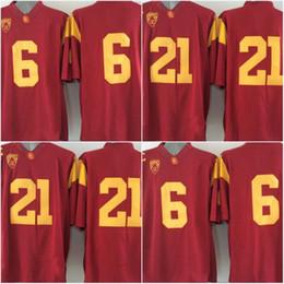 Factory Outlet- USC Trojans # 21 Su'a Cravens # 6 Cody Kessler, maillots de football de l'université de la NCAA, 2015 nouveau style pas cher cousu Jersey, broderie l ? partir de fabricateur