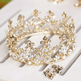 Wholesale Dazzling Crown Princess Tiara - New Dazzling Crown Homecoming Prom Cocktail Party Wedding Bridal Accessories Princess Crown Tiaras Comb Free Shipping ZYY