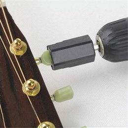 Wholesale bass guitars accessories - Wholesale- Assemble Electric Drill Hexagonal Guitar String Winder Head Tools For Electric Acoustic Guitar Bass Parts & Accessories