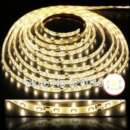Wholesale Smd Led String - Wholesale-5m Warm White 300 led 3528 SMD Waterproof RGB Strip Bright flexible Strip Light String Bulb Lamp for Christmas Party Home