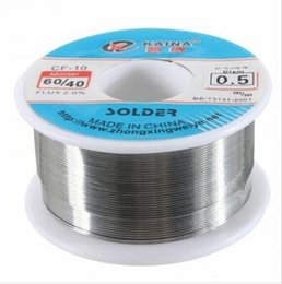 Wholesale Rosin Core Wire - 100g Excellent quality 0.5mm 60 40 Tin Lead melt Rosin Core Solder Soldering Wire 2% Flux Reel Roll