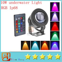 2019 fontane all'aperto all'ingrosso New 2016 Sample 10W RGB LED Underwater Light Waterproof IP68 Fountain Swimming Pool Lamp 16 Colorful Change With 24Key IR Remote