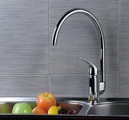 Wholesale Discounted Kitchen Faucets - free shipping Copper kitchen basin hot and cold faucet discount kitchen faucets
