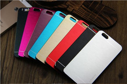 Wholesale S4 Luxury Covers - Luxury Ultra thin Motomo Brushed Brush Aluminium Metal Slate Hard Back Case Cover For iphone 5 5s 6 6s plus Samsung S7 edge S4 S6 edge DHL