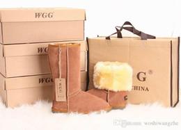 O envio gratuito de Alta Qualidade WGG Clássico das Mulheres altas Botas botas Mulheres Botas de Neve de Inverno botas de couro de bota de chocolate preto EUA TAMANHO 5 --- 13 cheap c chocolate de Fornecedores de chocolate