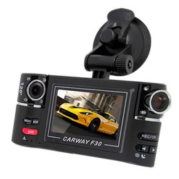 "Wholesale Dual Car Video Camera - Dashcam Hd Dual Lens F30 2.7"" Car Dvr Night Vision Car Black Box Camera Vehicle Driving Video Recorder With Original Package"