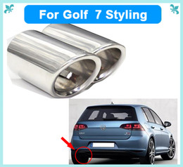 Wholesale Wholesale Pipe For Exhaust - Car styling exhaust pipe car covers for VW Volkswagen for golf 6 for golf 7 JETTA Scirocco Sagitar 1.4T TSI
