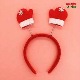 Wholesale Santa Reindeer Antlers - Santa Reindeer Antler Hat Deer Horn Christmas Cap Free Shipping New Gift TY1653