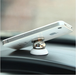 Soportes para móviles online-MINI 360 grados Soporte para teléfono para automóvil Materiales magnéticos Soporte para teléfono móvil magnético iPhone / iPad Soporte fuerte Succión BR-10005
