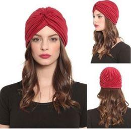 Wholesale turban headband wrap cap - Hats & Beanies Solid Adult Beanie Polyester Man Women Unisex Yoga Caps Turban Hat Headband Wrap Caps Headwrap Bandanas