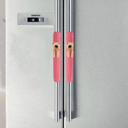 Wholesale Refrigerator Covers - Wholesale-Hot marking 1Pair Doorknob Handle Cover Double-door Refrigerator Gloves O6