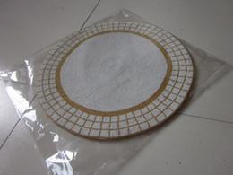tondo oro e bianco perline placemat fatto a mano set perline di vetro tavolo stuoia perline runner tavolo caricatore con perline tavolo da