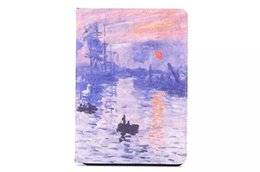 Wholesale New World Cover - New Printing World Famous Painting PU Leather Case Cover for ipad mini123 mini4 ipad 234 Air 5 Air2 6 OEM ODM
