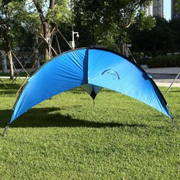 Wholesale Foldable Portable Canopy - Wholesale- Foldable Portable Beach Canopy Tent Sun Shade UV-protective waterproof Patio Cabana Outdoor Camping Picnic Table Tent for Hiking