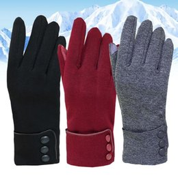 Wholesale riding mittens - Cycling Gloves Warm non-slip touch screen Bike Bicycle Gloves Riding Gym Finger Gloves Outdoor Sport Shockproof Mittens KKA3228