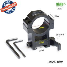 Wholesale Scope Mount Lasers - AloneFire KC11 30mm Ring QD Scope Mount 21mm 20mm for scopes Laser Sight Hunting Accessories