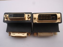 Wholesale F 24 - 1pcs 90 Degree Down Angle DVI 24+1 DVI-D Male to Female M F Adapter Redirection Connector