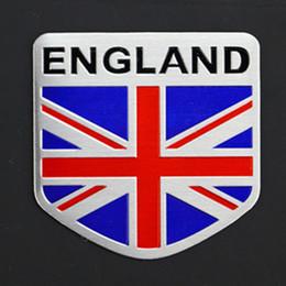 Wholesale Sticker Lotus - Car Styling 3D Aluminum England Flag Car Sticker Decal For JAGUAR Landrover AstonMartin Lotus MG VAUXHALL ASCARI ROVER Morgan McLaren
