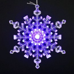 Wholesale Acrylic Hair Ornaments - 2015 New Year Christmas Decoration Supplies Crafts 14.5cm Acrylic LED Christmas Snowflake For Home Party Ornaments
