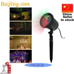 Wholesale Starry Stage Light - Xmas lights! New 2015 Outdoor Laser Stage Lighting Waterproof Garden Lights Starry Firefly Landscape Light Green & Red Projector 002938