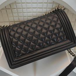 Wholesale Boston Messenger Bags - Classic should bags women leather messenger bag leboy sheepskin bag backpack bronze silver chain, fashion Crossbody bag