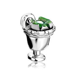 Wholesale Drink Bead - Fashion women jewelry DIY bracelets European Cappie drink glass cup metal bead loose charms fits Pandora charm bracelet