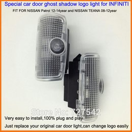 Wholesale Patrol Cars - 2X Latest LED Car door laser projector ghost shadow logo light For NISSAN Patrol 12-14year and NISSAN TEANA 08-12year+Free ship