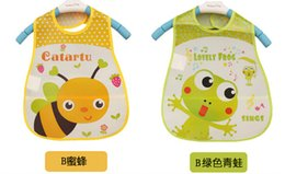 Wholesale Disposables Bibs - Reflexed translucent EVA soft disposable meal pocket baby bib cartoon baby bibs waterproof