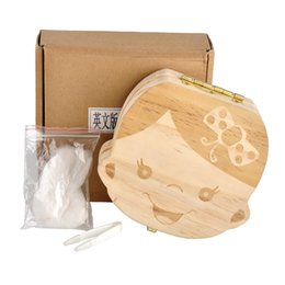 Wholesale Baby Keepsake Wholesalers - Baby Teeth Box save Milk teeth Wood storage box tooth house storing keepsakes and mementos great gifts 3-6YEARS boy girl 2107123