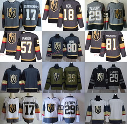 Wholesale David Perron - 2018 29 Marc-Andre Fleury Jersey 57 David Perron 80 Tyler Wong Jerseys 18 James Neal 57 David Perron 81 Jonathan Marchessault Grey White