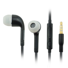 Wholesale Generic Cell - Wholesale-10pcs lot Generic Android Cell Phone Headset Headphone for Samsung Galaxy S4 Earphone remote control talk with MIC Volume + -