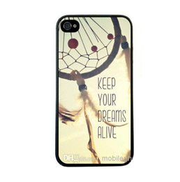 Wholesale Dream Mobile Phone - Wholesale Retro Keep Your Dreams Alive Quote Hard Plastic Mobile Phone Shell Case Skin Cover For Iphone 4 4S 5 5S 6 6PLUS