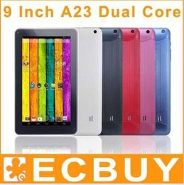 Wholesale 9inch Pink Cheap Tablets - Discount tablet pc Bluetooth dual camera android 4.2 9 inch 9inch A23 Cheap tablets pc 20pcs