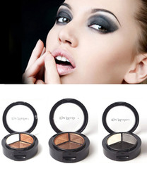 Wholesale Mineral Colors Eyeshadow - Natural Mineral Waterproof Eyeshadow Matte 3 Colors Matte Eyeshadow Palette Makeup Box Makeup Palette Eye Shadow With eye pencil free