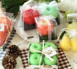 Wholesale Apple Candle Favors - Apple candles type for wedding favors christmas favors canddles personalized wedding favors and gifts for guests free shipping