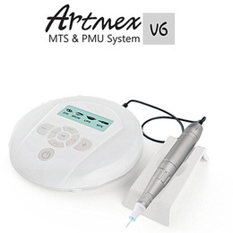 Wholesale Large Lcd Screens - Artmex V6 Digital Professional Semi Permanent Makeup PMU System With Pen Stand Large LCD Screen Smooth Quiet